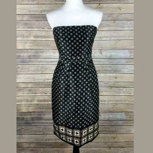Banana Republic Strapless Geometric Sheath Dress